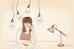 Great new bright idea! Stock Photo