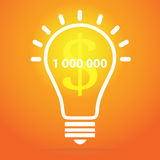 Great new idea concept - bulb with hand draw elements Stock Photo