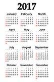 Great new wall calendar 2017. Vector. Illustration Stock Photos