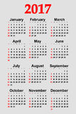 Great new wall calendar 2017. Vector illustration Royalty Free Stock Photography