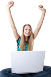 Great news result in happiness Stock Photo