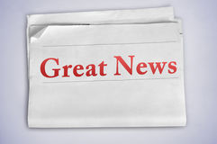 Great News word Royalty Free Stock Image