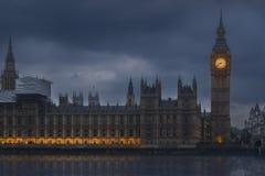 Big Ben clock. A great night shot of the Big Ben clock building in London Stock Photo