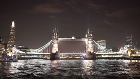 Great night shot of Tower Bridge London stock video
