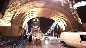 Great night shot of Tower Bridge London. LONDON, ENGLAND stock video
