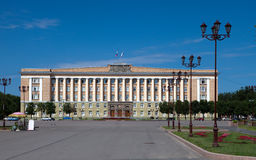 Great Novgorod. City Council building on the Victory square. Russia Stock Photos