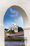 Great Novgorod. The Kremlin wall and Saint Sophia cathedral. Russia Royalty Free Stock Images