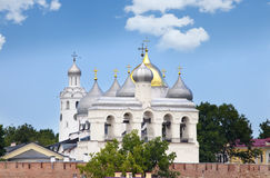 Great Novgorod. The Kremlin wall and Saint Sophia cathedral. Russia Stock Photography