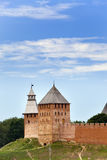 Great Novgorod. The Kremlin wall with towers. Russia Stock Images