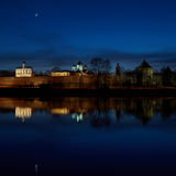 Great Novgorod. Night, the Fortress. River Volkhov. Great Novgorod. Autumn. Night, the Fortress. River Volkhov IMG_2852 Stock Photography