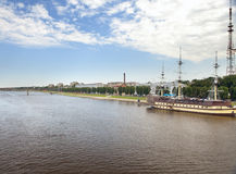 Great Novgorod - river Volkhov Royalty Free Stock Images