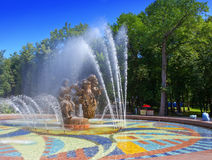 Great Novgorod. Russia. A fountain  Sadko Stock Photography