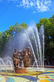 Great Novgorod. Russia. A fountain  Sadko- hero of the Novgorod legends Stock Images