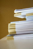 Great number of  empty notebooks Royalty Free Stock Image