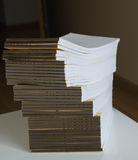 Great number of  empty notebooks Stock Photography