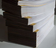 Great number of  empty notebooks Stock Photos