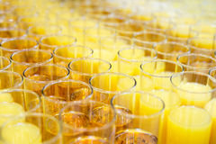Great number of soft drinks Royalty Free Stock Photo