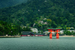 The great O-Torii of Itsukushima Shrine Stock Photography