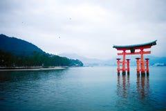 The great O-Torii of Itsukushima Shrine Stock Image