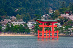The great O-Torii of Itsukushima Shrine Royalty Free Stock Image