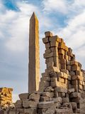 Great Obelisk at Karnak Temple Luxor Thebes Egypt. Karnak Temple is one of Egypt best destinations for tourists and is situated in Luxor City, on the Nile royalty free stock photo
