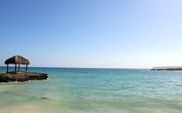 Great ocean colors Caribbean beach Royalty Free Stock Images