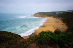 Great Ocean Drive cliff and beach Royalty Free Stock Photo