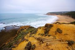 Great Ocean Drive cliff and beach Stock Images