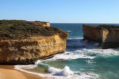 Great ocean road australia. Stunning shot of the Great ocean road scenery Australia victoria tourist spot stock photos