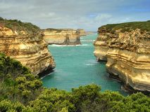 Great Ocean Road Cliffs Stock Photography