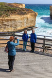 Great Ocean Road Family Photo Royalty Free Stock Images