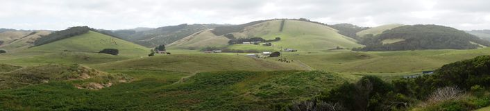 Great Ocean Road landscape. Panoramic landscape near Johanna beach royalty free stock image