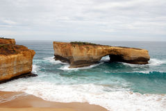 Great Ocean Road - London Bridge. London Bridge (or London Gap) is one of many spectacular rock formations along Australia's Great Ocean Road (also known as the Royalty Free Stock Photo