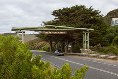 Great Ocean Road memorial arch at Eastern View. Stock Images