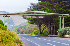 Great Ocean Road memorial arch in Victoria state, Australia Stock Images