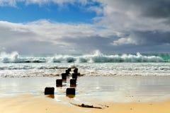 Great Ocean Road - Morning sea on the beach at Apollo Bay Stock Photos