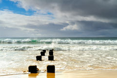 Great Ocean Road - Morning sea on the beach at Apollo Bay Royalty Free Stock Photography