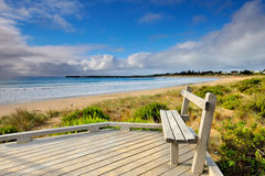Great Ocean Road - Morning sea on the beach at Apollo Bay Stock Images