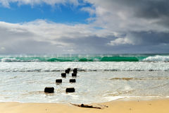 Great Ocean Road - Morning sea on the beach at Apollo Bay Stock Image