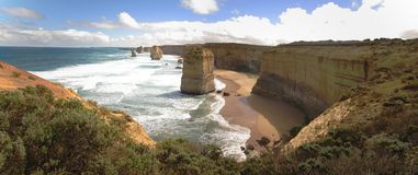 Great Ocean Road, Port Campbell National Park, Victoria, Australia. Panorama of Port Campbell National Park, Victoria, Australia Royalty Free Stock Images