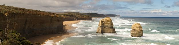 Great Ocean Road, Port Campbell National Park, Victoria, Australia. Panorama of Port Campbell National Park, Victoria, Australia Royalty Free Stock Photo