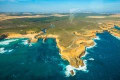 Great Ocean Road: scenic flight Stock Image