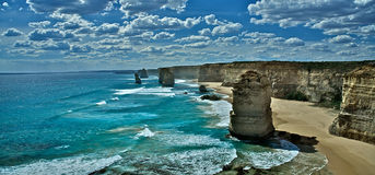 Great ocean road and the twelve apostles Melbourne. A summer scene of great ocean road and the twelve apostles in Australia, Melbourne Royalty Free Stock Images