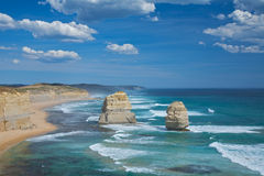 Great ocean road, twelve Apostles Scenic view. Great Ocean Road with a view of twelve apostles in Melbourne, Australia Royalty Free Stock Images