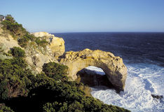 Great Ocean Series - The arch. Film scan of seaside at great ocean road Stock Image