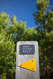 Great ocean walk sign Royalty Free Stock Photo