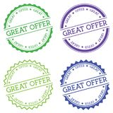 Great offer badge isolated on white background. Royalty Free Stock Photos