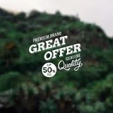 Great Offer premium brand reduction Royalty Free Stock Photography
