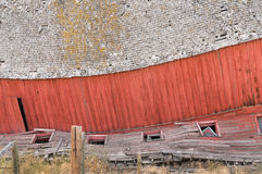 Great old barn is collapsing Stock Images