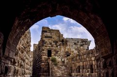 Great old castle of Damascus Stock Photography